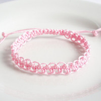 Custom Color Macrame Bracelet, Square Knot Friendship Bracelet