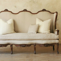 Vintage French Settee by FrenchEclectic on Etsy
