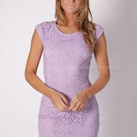 all i have lace cocktail - lilac at Esther Boutique