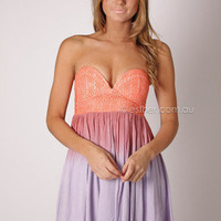 laura island cocktail - coral/lilac at Esther Boutique