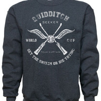 Hogwarts Quidditch Captain Sweatshirt, Harry Potter wizard inspired sweatshirt.