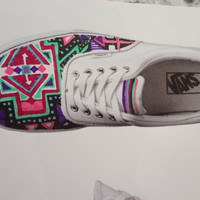 Aztec/Tribal Shoes MADE TO ORDER