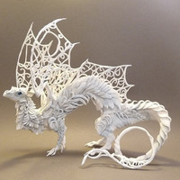 CUSTOM ORDER - White Dragon (medium)