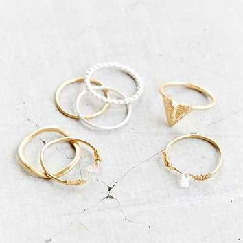 Gilded Cities Ring Set- Gold