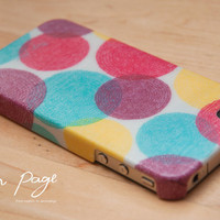 iphone 4 case , iphone 4s case , case for Iphone 4 Blackberry mobile Case handmade: Colorful circle