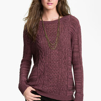 Rubbish® Cable Sweater (Juniors) | Nordstrom