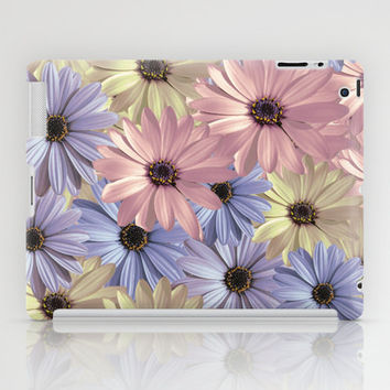 iPad CASES and SKINS - iPad Case (2nd, 3rd, 4th Gen) - iPad Mini CASE - iPad Mini Skin - Lovely Pink Yellow Blue Daisy Pattern Design
