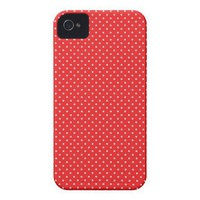 Custom red and white pin polka dot dots iPhone 4 iPhone 4 Covers from Zazzle.com