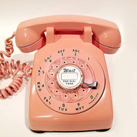 WORKING - Pink Rotary Phone Telephone 1958