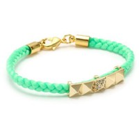 Tai Green Pyramid Charm Bracelet - designer shoes, handbags, jewelry, watches, and fashion accessories | endless.com
