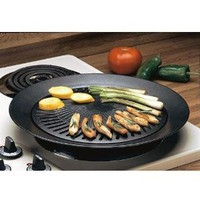 Chefmaster KTGR5 13-Inch Smokeless Stovetop Barbecue Grill: Kitchen & Dining