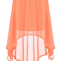 Peach dip hem skirt - Skirts  - Clothing