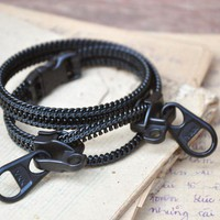 Mens Bracelets, Zipper Jewelry, Bla.. on Luulla