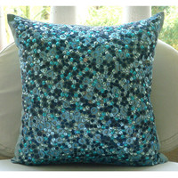Sea The Dream Throw Pillow Covers 16x16 Inches by TheHomeCentric