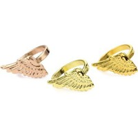 Gemma Redux Set of 3 Single Wing Rings - designer shoes, handbags, jewelry, watches, and fashion accessories | endless.com