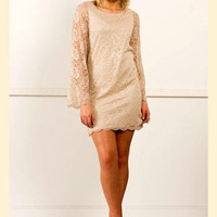 Feel the Love Lace Shift Dress