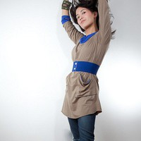 Eco - Olive and Blue Tunic by Avendano on Sense of Fashion