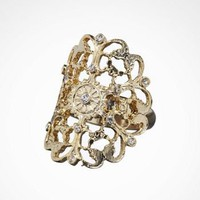SCATTERED STONE FILIGREE RING at Express