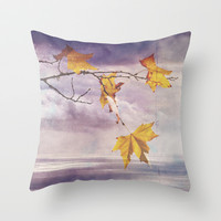 Faded Leaves - JUSTART © Throw Pillow by JUSTART  * Syl *