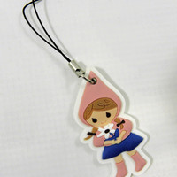 Gift Wrapping Tag Little Red Riding Hood Charm Cell Phone strap
