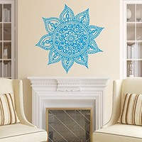 Wall Decals Mandala Ornament Indian Geometric Moroccan Pattern Namaste Flower Yoga Wall Vinyl Decal Stickers Bedroom Murals