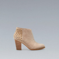 STUDDED COWBOY ANKLE BOOT - Shoes - Woman - ZARA United Kingdom