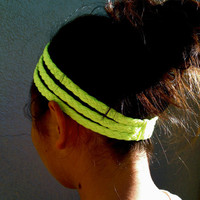 Three-Strand Braided T-Shirt Headband: &quot;I See the World In Neon and Neon&quot;
