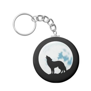 Howl of the Wolf Keychain