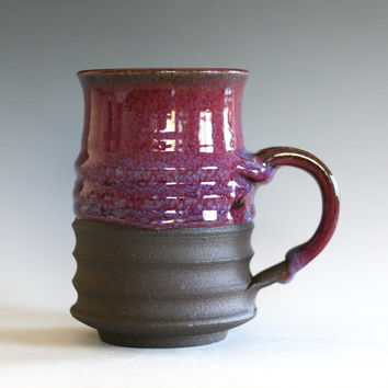 Purple Coffee Mug, 16 oz, handmade ceramic cup, tea cup, coffee cup, handthrown ceramic stoneware pottery mug, unique coffee mug