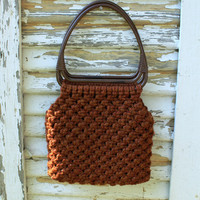 Autumn Purse  Woven Wool 1970s by SucreSucre on Etsy
