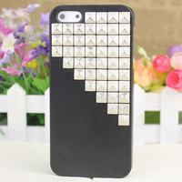Black Hard Case Cover With Silvery Stud for Apple iPhone5 Case, iPhone 5 Cover,iPhone 5s Case, iPhone 5gs