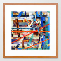 Gwenola (stripes 24) Framed Art Print by Wayne Edson Bryan | Society6