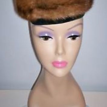 Vintage Women's Fur Dress Hat by Cameo of New York Size 20.5 Nice Lining L@@K!