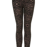 Paisley Lace Leggings