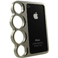 Knuckle Case iPhone 4 and 4S - Silver