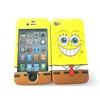 SpongeBob Squarepants iphone 4 4G 4S Case Full Cover Front and Back