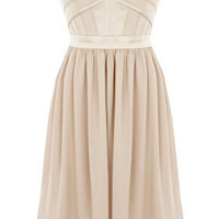 LIGHT PINK Corset Bandeau Chiffon Dress.