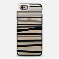 Monochrome Stripes Metaluxe iPhone 6 case by Lisa Argyropoulos | Casetify