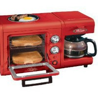 Nostalgia Electrics BSET100CR 3 in 1 Breakfast Station