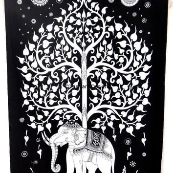 Elephant Tapestry , Tree of life , Wall Hanging,Mandala Tapestries,Hippie wall tapestries,Bohemian Dorm Tapestry,Indian Tapestry,Beach
