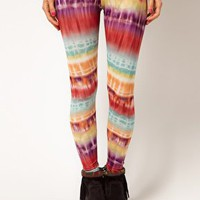 ASOS Leggings in Bright Ombre Print at asos.com