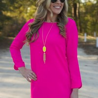 Out And About Dress: Hot Pink - Lavish Boutique