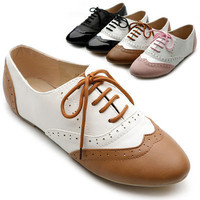 New Womens Shoes Classics Dress Lace Ups Oxfords Flats Low Heels Multi Colored