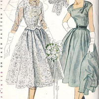 1950s Simplicity Pattern 8484 Wedding or by MissBettysAttic