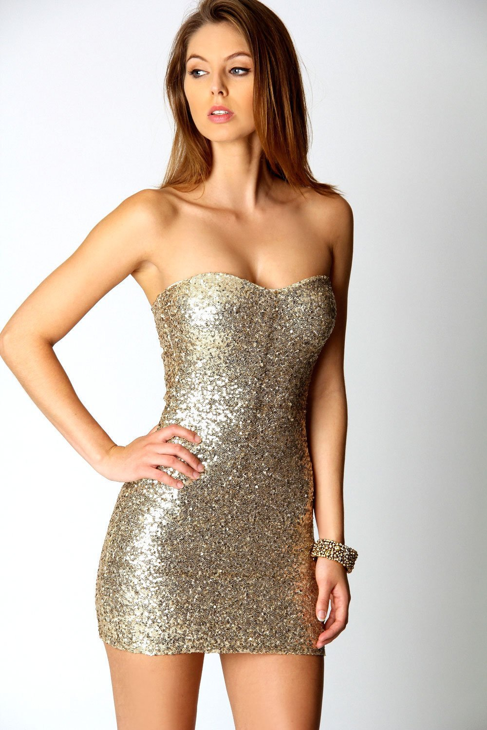 Sophia Sequin Boobtube Dress