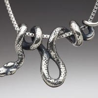Silver Vine Snake Pendant