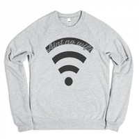 No Wifi-Unisex Heather Grey Sweatshirt