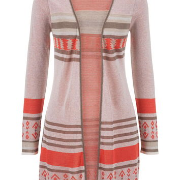 tunic cardigan with side slits
