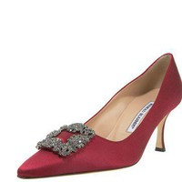Manolo Blahnik Hangisi Satin Pump - $197.00 : Designer Shoes Online,Wholesale Designer Shoes,Designer Discount Shoes