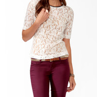 Essential Coated Trim Lace Top